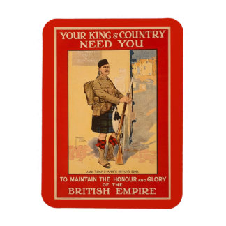 Your King and Country Need You, British Empire Magnet