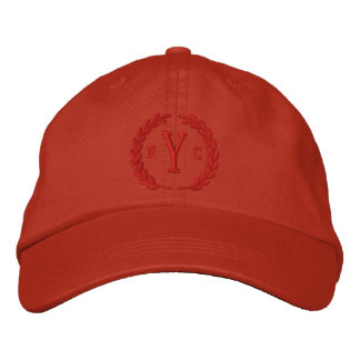 Your Monogram 3 Letters and Laurels Embroidery Embroidered Hats