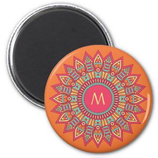 Your Monogram in a Boho Frame magnet