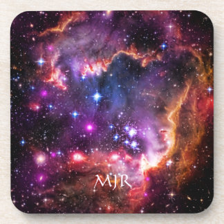 Your monogram on Starry Space Picture Coaster