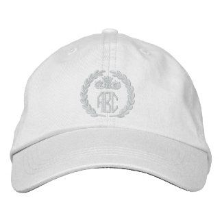 Your Monogram Up to 3 Letters Laurels Embroidery Embroidered Baseball Cap