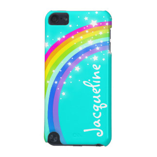 Your name 10 letter rainbow aqua ipod case iPod touch 5G case