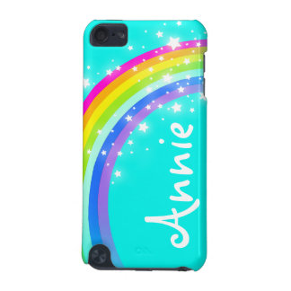 """Your name"" (5 letter) rainbow aqua ipod case iPod Touch 5G Cases"
