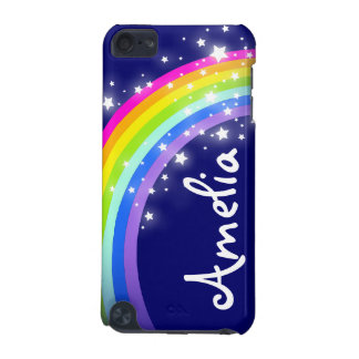 """Your name"" (6 letter) rainbow on navy ipod case iPod Touch (5th Generation) Case"