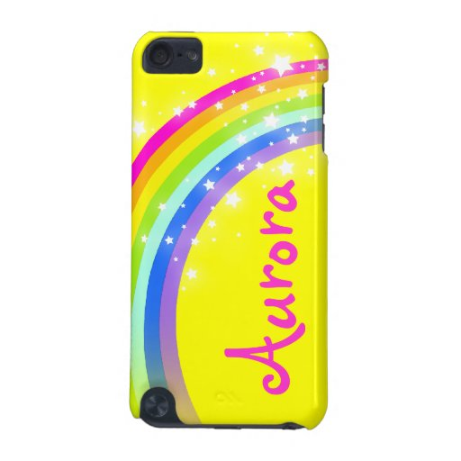 """""""Your name"""" (6 letter) rainbow yellow ipod case iPod Touch (5th Generation) Covers"""