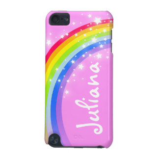 Your name (7 letter) rainbow light pink ipod case iPod touch 5G covers