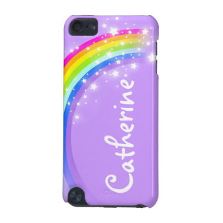 """""""Your name"""" (long) rainbow violet girls ipod case iPod Touch 5G Covers"""