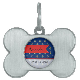 Your Name - Nautical Anchors (Boat Anchors) - Gold Pet ID Tag