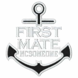 Your Name on Nautical Anchor Embroidery First Mate Polo Shirts