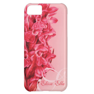 """""""Your name"""" Orchid floral red iphone 5 case"""