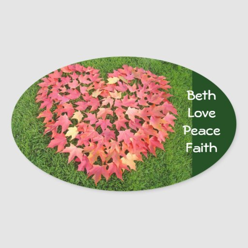 Your Name stickers Love Peace Faith seals Heart