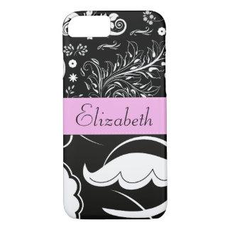 Your Name - Swirled Pattern, Swirly Style - Black iPhone 8/7 Case