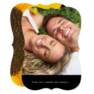 Your Photo Wedding Invitation with Sunflower