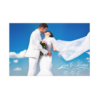 Your Special Day Personalized Wedding Canvas Print