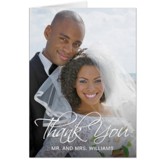 Your Special Wedding Photo Thank You Card
