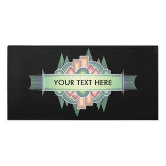 """""""Your Text"""" Room Sign, Black background Door Sign"""