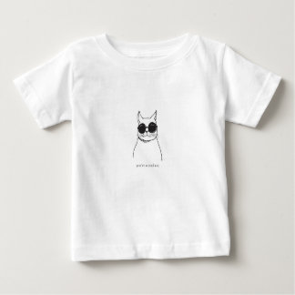 """""""You're a cool cat"""" illustrated cat baby body Baby T-Shirt"""