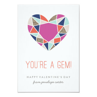 You're a Gem Classroom Valentine - Cobalt Card