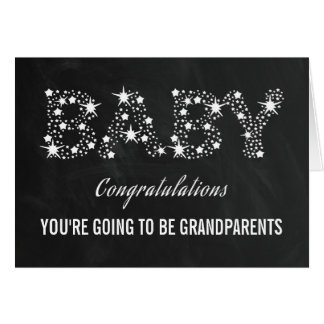 YOU'RE GOING TO BE GRANDPARENTS   ELEGANT STARS CARD