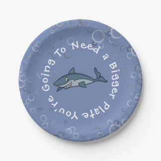 """You're Going To Need A Bigger Plate"" Paper Plate"