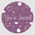 You're Invited Bubbles Envelope Sticker Seal
