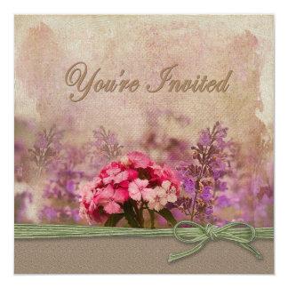 You're invited - Cottage garden 13 Cm X 13 Cm Square Invitation Card