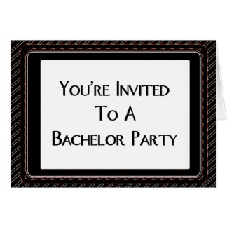 You're Invited To A Bachelor Party Card