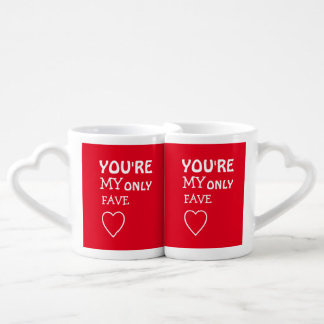 You're My Fave Valentines Lovers' Mug Set
