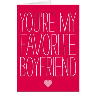 You're My Favorite Boyfriend Valentine's Day Card
