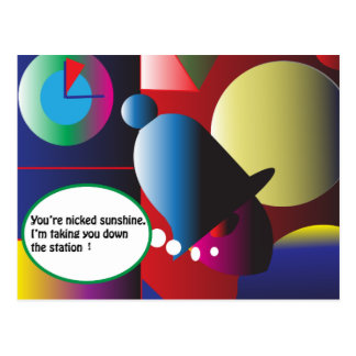 You're Nicked! Postcard