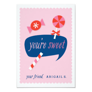 You're sweet classroom valentine card