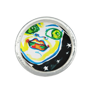 Youth and Optimism watercolor painted ring