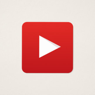YouTube Channel Square Business Card