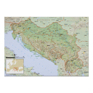 YU mapa slovenski Poster