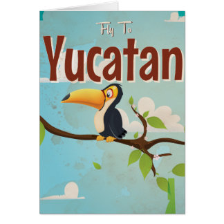 Yucatan Vintage vacation Poster Card