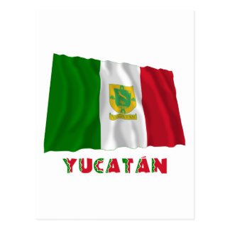 Yucatán Waving Unofficial Flag Postcard