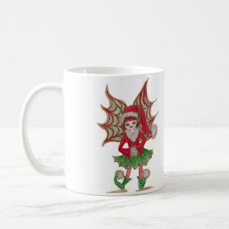Yuletide Child Fairy Basic White Mug