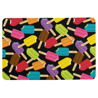 Yum! Popsicle Floor Mat - Black