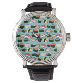 Yummy Sushi Fun Illustrated Pattern Watch