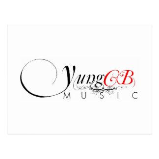 Yung CB Music Postage Stamp Postcard