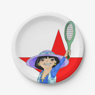 Yuriko plates - I Hate My Doubles Partner 7 Inch Paper Plate