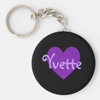 Yvette in Purple Key Ring