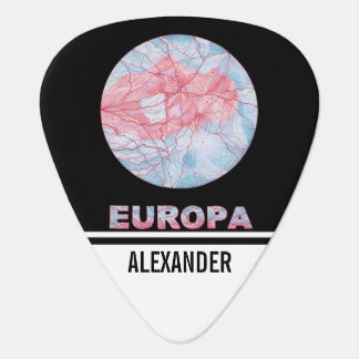 Z Europa Jupiters Moon Space Geek Colourful Custom Plectrum