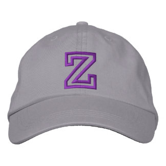"""""""Z"""" Small Athletic Letter Embroidered Hat"""