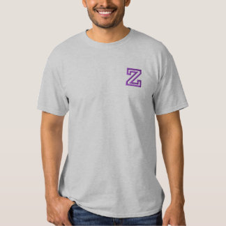 """""""Z"""" Small Athletic Letter Embroidered T-Shirt"""