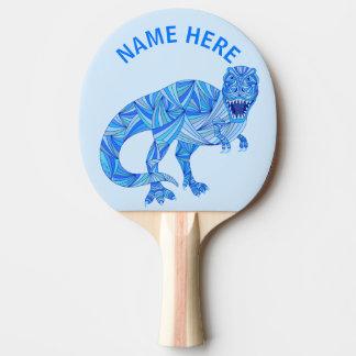 Z T-Rex Dinosaur Colourful Prehistoric Animal Ping Pong Paddle