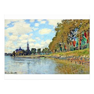 Zaandam by Claude Monet Postcard