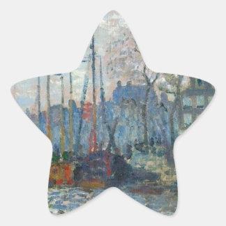Zaandam, The Dike by Claude Monet Star Sticker
