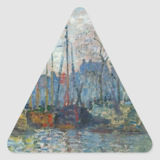 Zaandam, The Dike by Claude Monet Triangle Sticker