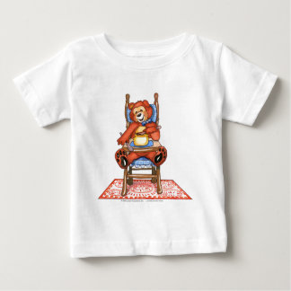 Zachary Bear in a High Chair Baby T-Shirt